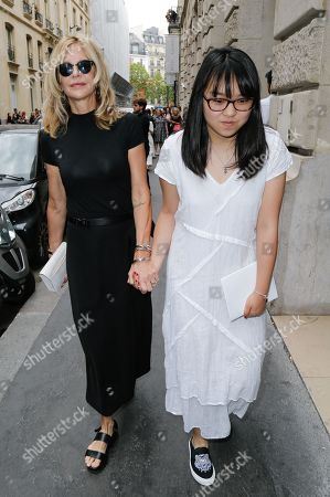 Stock Picture of Meg Ryan and her daughter Daisy True Ryan