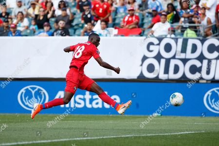Panama's Abdiel Arroyo in action during a CONCACAF Gold Cup soccer match against Jamaica, in Philadelphia