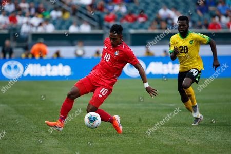 Panama's Edgar Barcenas in action during a CONCACAF Gold Cup soccer match against Jamaica, in Philadelphia