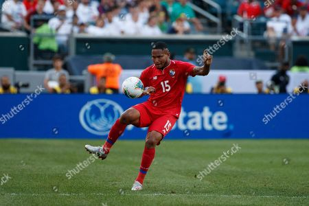 Panama's Eric Davis in action during a CONCACAF Gold Cup soccer match against Jamaica, in Philadelphia
