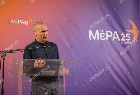 Editorial picture of Yanis Varoufakis speaking in Chania, Greece - 30 Jun 2019