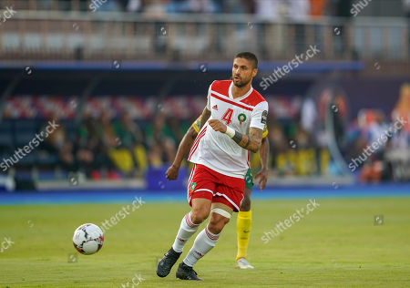 Manuel Marouan Da Costa Trindade of Morocco during the African Cup of Nations match between South Africa and Morocco at the Al Salam Stadium in Cairo, Egypt