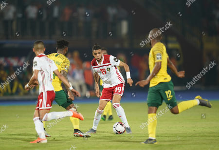 Youssef En-Nesyri of Morocco during the African Cup of Nations match between South Africa and Morocco at the Al Salam Stadium in Cairo, Egypt