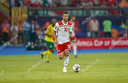 Younes Belhanda of Morocco during the African Cup of Nations match between South Africa and Morocco at the Al Salam Stadium in Cairo, Egypt