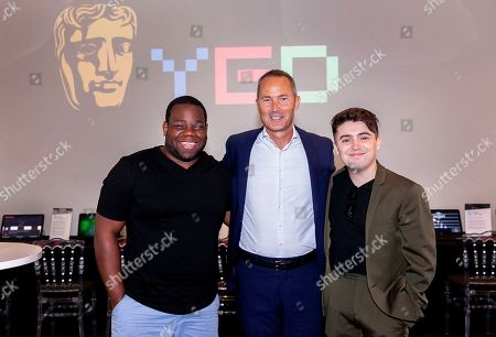 Des Gayle, David Gardner, Vice-President of Games at BAFTA & Dean Dobbs