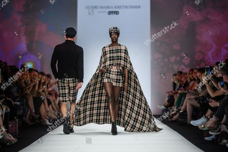 Models present creations by designer Guido Maria Kretschmer during the Mercedes-Benz Fashion Week in Berlin, Germany, 01 July 2019. The Spring/Summer 2020 collections are presented at the MBFW Berlin from 01 to 03 July.