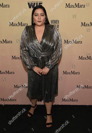 Shivani Rawat arrives at the Women in Film Annual Gala, at the Beverly Hilton Hotel in Beverly Hills, Calif