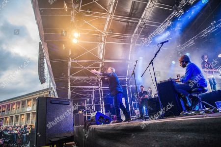 Editorial photo of Elbow in concert at Piece Hall, Halifax, UK - 30 Jun 2019