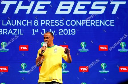 Former Brazilian soccer player Cafu attends a Copa America promotion event in Sao Paulo, Brazil, 01 July 2019. The Copa America runs its semifinal stage where Brazil, Argentina, Peru and Chile competing for the 2019 title.