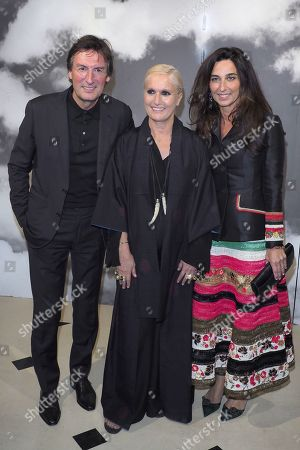Pietro Beccari and Dior designer Maria Grazia Chiuri in the front row