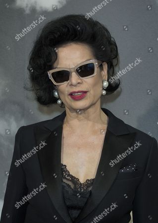 Bianca Jagger in the front row