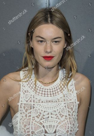 Camille Rowe in the front row