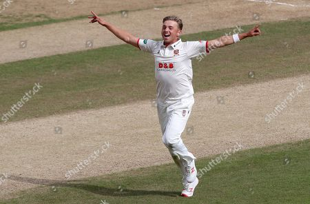 Aaron Beard celebrates taking the wicket of Joe Clarke during Nottinghamshire CCC vs Essex CCC, Specsavers County Championship Division 1 Cricket at Trent Bridge on 2nd July 2019