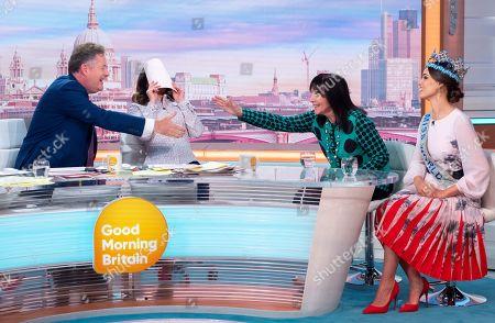 Stock Image of Piers Morgan, Susanna Reid, Julia Morley and Vanessa Ponce de Leon