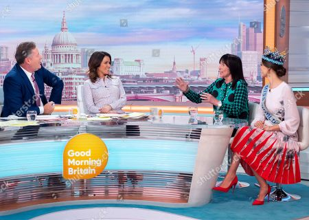 Stock Photo of Piers Morgan, Susanna Reid, Julia Morley and Vanessa Ponce de Leon