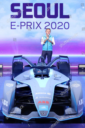 Alejandro Agag, founder and CEO of Formula E Operations Ltd., speaks during a press event in Seoul, South Korea, 02 July 2019. The Seoul E-Prix 2020 will take place at Jamsil Stadium and on neighboring streets in eastern Seoul on 03 May 2020.