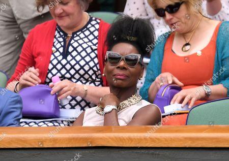 Floella Benjamin on Centre Court