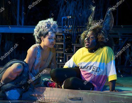 Amber James as Titania, Susan Wokoma as Bottom