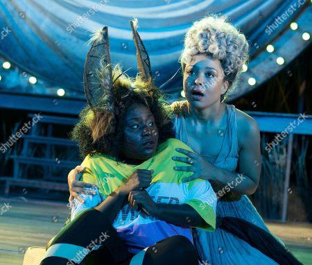 Susan Wokoma as Bottom, Amber James as Titania,