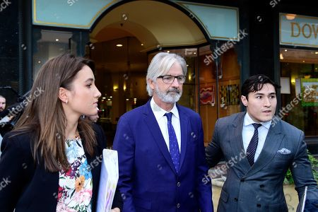 Australian actor John Jarratt (C) leaves the Downing Centre Local Court in Sydney, New South Wales, Australia, 02 July 2019. Jarratt has pleaded not guilty to allegations of raping a former housemate in 1976, media reported.