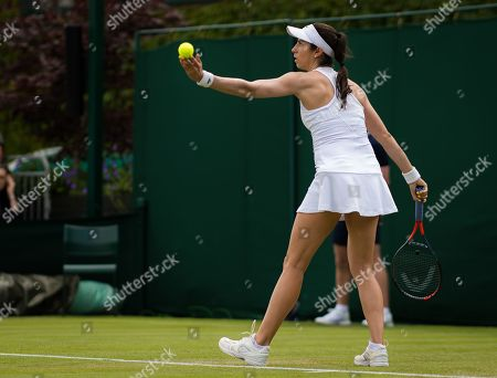 Christina McHale of the United States in action during the first round