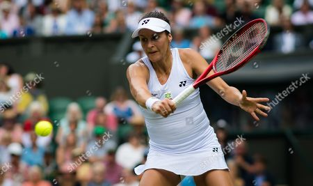 Tatjana Maria of Germany in action during her first-round match