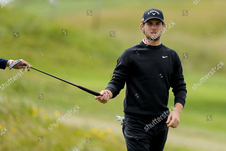 Thomas Pieters on the 4th fairway