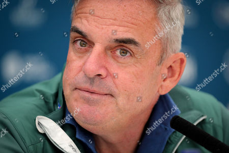 Paul McGinley during a press conference
