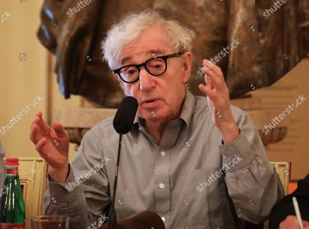 Woody Allen attends the press conference at La Scala opera house, in Milan, Italy, 02 July 2019. Woody Allen is directing Puccini's ' Gianni Schicchi ' opera, which opens Saturday in Milan. The opera premiered in Los Angeles and it is making its debut at La Scala.