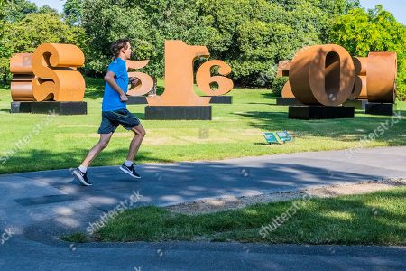 Robert Indiana, ONE Through ZERO (1980-2002) Presented by Waddington Custot - Frieze Sculpture, one of the largest outdoor exhibitions in London, including work by 25 international artists from across five continents in Regents Park from 3rd July - 6th October 2019.