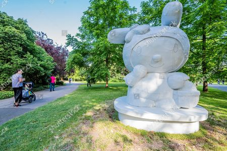 Stock Picture of Tom Sachs, My Melody (2008), Presented by Galerie Thaddaeus Ropac - Frieze Sculpture, one of the largest outdoor exhibitions in London, including work by 25 international artists from across five continents in Regents Park from 3rd July - 6th October 2019.