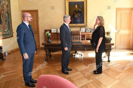 King Philippe receives Liesbeth Homans for her oath as Prime Minister of the Flemish Government