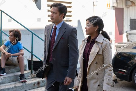 Stock Image of Marco Grazzini as Jack Hansen and Tiya Sircar as Kate Bradley