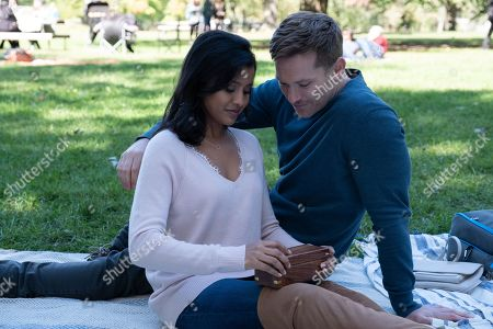 Tiya Sircar as Kate Bradley and Chad Connell as Eric Hayes