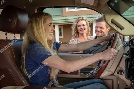 Stock Picture of Spencer Locke as Amberley Snyder, Missi Pyle asTina Snyder and Bailey Chase as Cory Snyder
