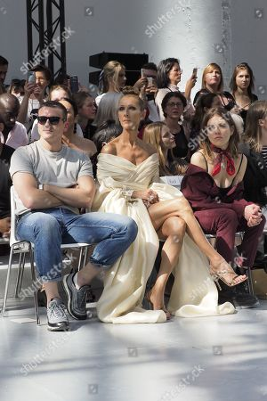 Pepe Munoz and Celine Dion in the front row