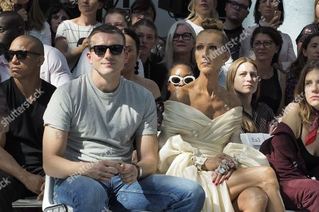 Stock Picture of Pepe Munoz and Celine Dion in the front row
