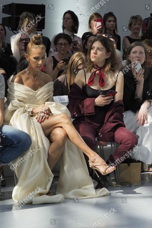 Celine Dion and Morgane Polanski in the front row