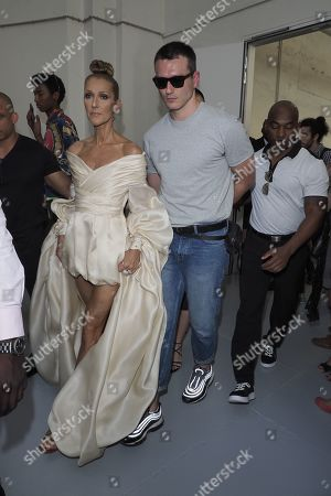 Celine Dion and Pepe Munoz in the front row
