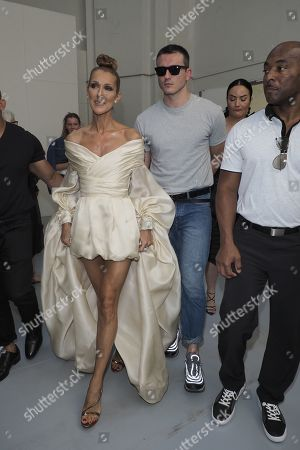 Stock Image of Celine Dion and Pepe Munoz in the front row