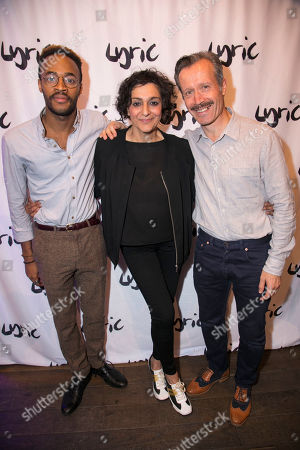 Enyi Okoronkwo (Tim Allgood), Meera Syal (Dotty Otley) and Jonathan Cullen (Freddie Fellows)