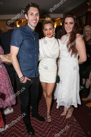 Stock Image of Blake Harrison (Ogie), Ashley Roberts (Dawn) and Lucie Jones (Jenna Hunterson)