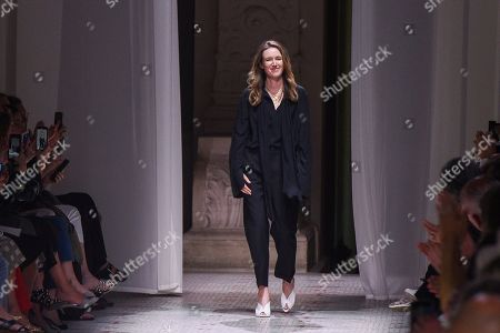Clare Waight Keller on the catwalk