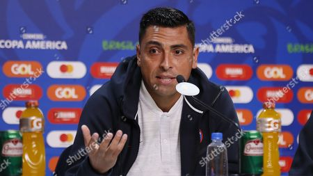 Stock Picture of Chile's national soccer team player Gonzalo Jara attends a press conference at Arena Do Gremio stadium in Porto Alegre, Brazil, 02 July 2019.