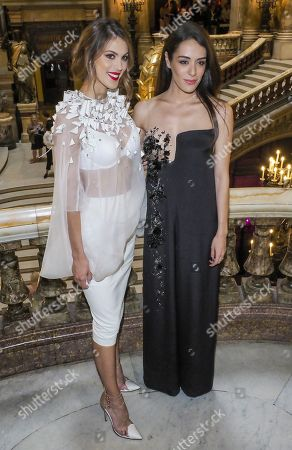 Iris Mittenaere and Sofia Essaidi in the front row