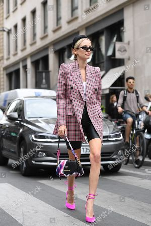 Editorial image of Street Style, Fall Winter 2019, Haute Couture Fashion Week, Paris, France  - 01 Jul 2019
