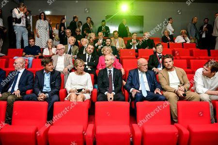 Danish architect Bjarke Ingels, French Culture Minister Franck Riester, Nouvelle Aquitaine president Alain Rousset, Bordeaux's mayor Nicolas Florian, Nouvelle Aquitaine Prefect Fabienne Buccio and Gironde president Jean Luc Gleyze