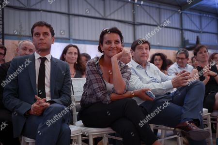 Gabriel Attal, Najat Vallaud-Belkacem and Patrick Kanner