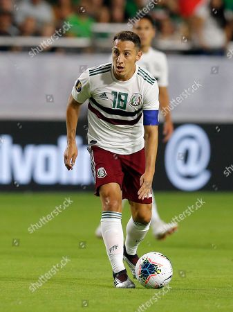 Mexico midfielder Andres Guardado (18) during the first half of a CONCACAF Gold Cup soccer match against Haiti, in Glendale, Ariz