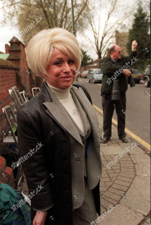 Actress Barbara Windsor Attends The Funeral Of Lionel Bart.
